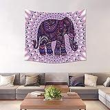 LNLZ Totem hängen_Totem Elefanten Wohnzimmer Wandbehang europäischen Café Stoff Ölgemälde dekorative Tapisserie Plane Hintergrund Tuch,Stil Zwei, 150 * 200 cm