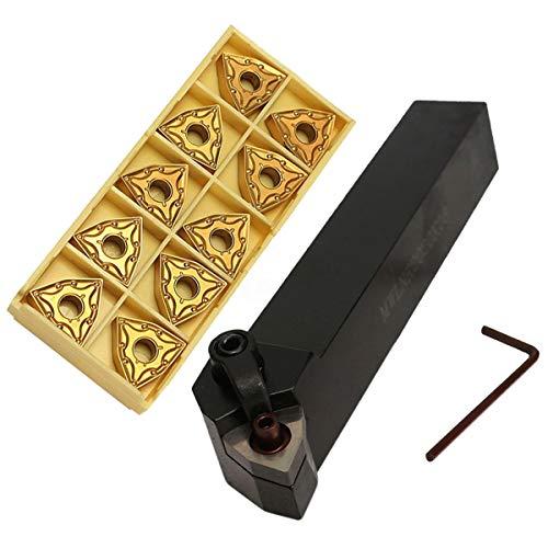 XZANTE Set Di Portautensili per Tornitura Da 20 Mm Mwlnr2020K08 + 10 Wnmg0804 Inserti In Metallo Duro