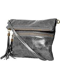 Bolsos estilo cartera ,Clutch , Bolso al hombro, (24,5 / 21 (28) / 2) Cuero & Cocodrilo, Mod. 2080 by fashion-formel