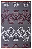 #4: Luxor - Brown & White Plastic Floor Mat Plastic Chatai (4' x 6')