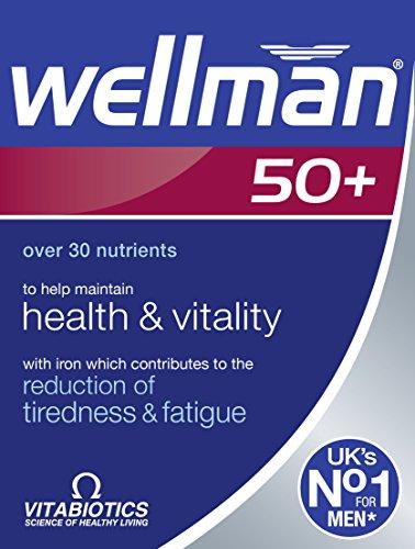 Coq10 Nahrung (Vitabiotics Wellman 50+ 30 Tabs, 59 g)