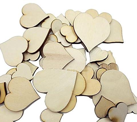 Butterme 50PCS multiformats marqués disques en bois de bijoux de