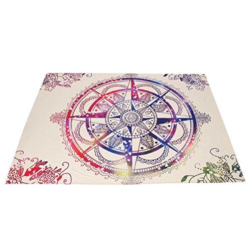VORCOOL Indische Mandala Tapisserie Wandbehang bohemian Wandteppiche Wanddeko 150 x 130 CM Yoga Picknick Strand Bikini Decke