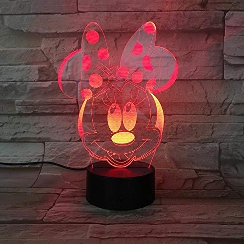 htlichter Jungen Mädchen Kind Kinder Baby Geschenk Dekorative Lichter Tischlampe Nacht Minnie Maus Abbildung ()