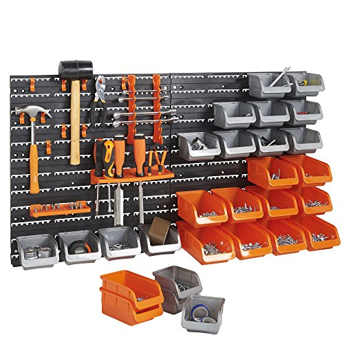 VonHaus 44 Pcs Wall Mount Storag...