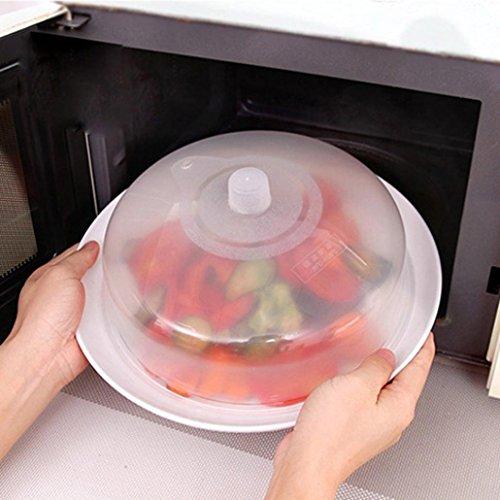 Mikrowelle Speisen, xinxinyu Mikrowelle Food Cover Teller belüftet Splatter Displayschutzfolie transparent Küche Deckel Sicher Vent C (Mikrowellen-dampf-cover)