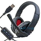 HFTEK USB Stereo Headset Kopfhörer Mikrofon Notebook Laptop PC VoIP