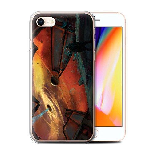 Offiziell Chris Cold Hülle / Gel TPU Case für Apple iPhone 8 / Raumfahrzeug Muster / Galaktische Welt Kollektion Schwarzes Loch