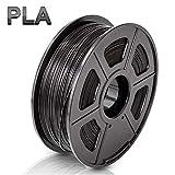 TIGTAK – Schwarz PLA Filament 1.75 mm (+/- 0.02 mm) 3D Filament PLA High Quality Reliable für 3D Drucker & 3D Stifte (Black)