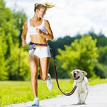 Aodoor Mains Libres chien plomb marche Ceinture de Course Jogging Taille pet conduit tranning laisse