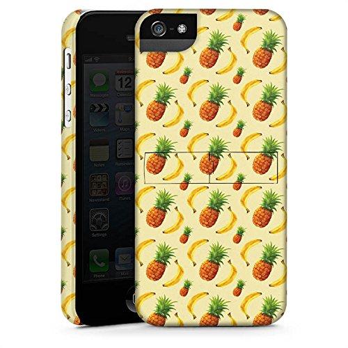 Apple iPhone 4 Housse Étui Silicone Coque Protection Ananas Banane Été CasStandup blanc