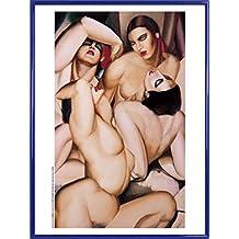 Tamara De Lempicka Poster Kunstdruck und Kunststoff-Rahmen - Vier Nackten (80 x 60cm)