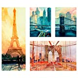 IKEA ASIA GRONBY Bild, 4 Stück, City Icons