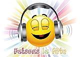 Edition Colibri Invitations Smiley en Français Faisons LA FêTE Lot de 10 Cartes d'Invitation rigolotes Smiley-/Émoticône pour Un Anniversaire des (10701 FR)...
