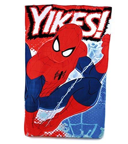 Offizielles Marvel Spiderman Fleece Reisedecke Jungen Charakter Bett Überwurf Warm Winter, Mehrfarbig, 10983#CM507