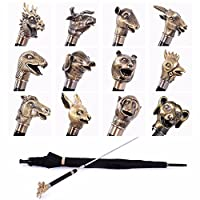 SSBY Long-stem umbrellas 12 Zodiac bronze creative personality straight umbrella umbrella man defensive umbrella