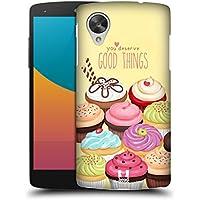 Head Case Designs Assortimento Cupcake Di Felicità Cover Retro Rigida per LG Nexus 5