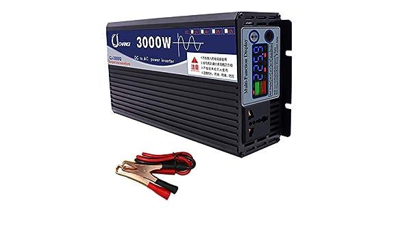 XBNBQ 3000W Pure Sine Wave Inverter DC 48V//60V to AC 220V Power Inverter High Efficient Dc Power Inverters for Smartphones Tablet Laptop Breast pump Nebulizer and More 48V-1000W Peak 6000W