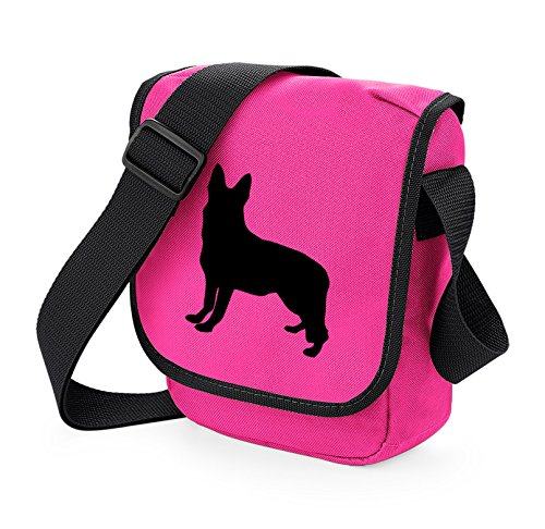 Bag Pixie - Borsa a tracolla unisex adulti Black Dog Pink Bag