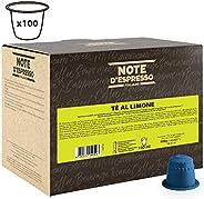 Note d'Espresso Lemon Tea Capsules 8g x 100 Capsules Exclusively Compatible with Nespresso* machines