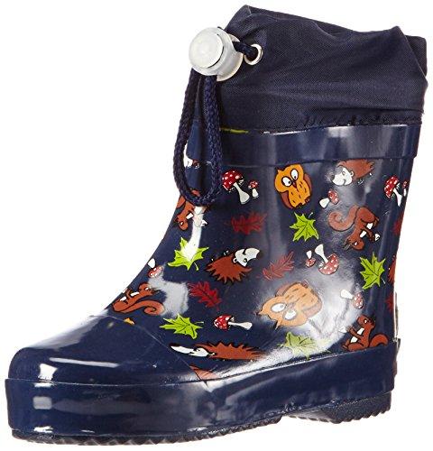 Playshoes Kinder Halbschaft-Gummistiefel, gefütterter Unisex Regenstiefel,Blau,20 EU