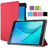 IVSO Funda para tablet Toshiba Encore 2(8pulgadas)–con función atril y encendido/apagado automático rojo Für Samsung Galaxy Tab A 9.7