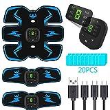 PewinGo Electroestimulador Muscular Abdominales, USB Recargable EMS Estimulador Muscular Abdominales, para...