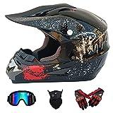 Wansheng Motos Moto Motocross Casques & Gants & Goggles D. O. T Standard Enfants Quad Bike VTT Go Karting Casque Pink Eagle,M57~58CM