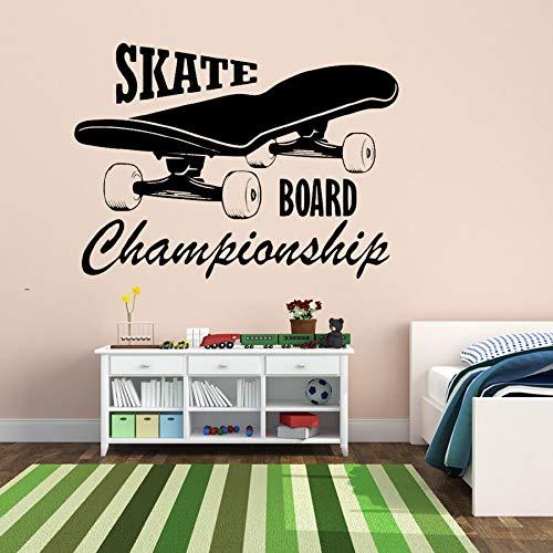 Tzxdbh Skate Cartas Y Patrón Pegatinas Pared Jóvenes