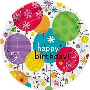 Partido Ênico 23 cm Platos fiesta de cumpleaños Ventoso (paquete de 8)