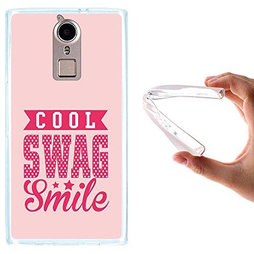 WoowCase Doogee F5 Hülle, Handyhülle Silikon für [ Doogee F5 ] Cool Swag Smile Handytasche Handy Cover Case Schutzhülle Flexible TPU - Transparent