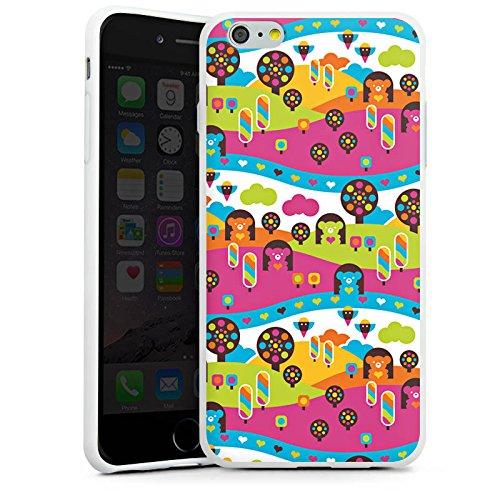Apple iPhone X Silikon Hülle Case Schutzhülle Wolken Herzen Süßigkeiten Silikon Case weiß