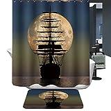 Harson&Jane Duschvorhang Digital-Printing Wasserdichten Duschvorhang Mit 12 Stück Haken Größe 180*180cm