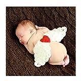 DAYAN weiche handgemachte Häkelarbeit-Baumwollbaby-Fotografie Props Gestrickte kleine Engelsflügel Beanies Kostüm-Set Baby-Kleidung und Zubehör