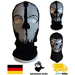 Bandana Guru Cagoule Tête de Mort Fantôme Masque cagoule Ghosts Masque de ski moto Masque de snowboard pour Outdoor Sport Paintball, Skull Ghosts 3, Taille unique