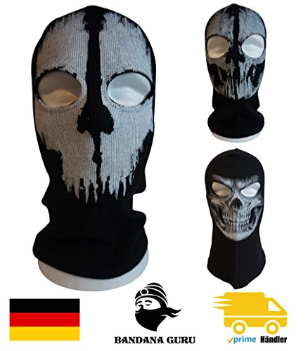 Bandana Guru Pasamontañas fantasma Calavera Cráneo Máscara Balaclava Ghosts Esquí Máscara motocicleta máscara viento Máscara Máscara de snowboard para Outdoor Sport Paintball, Skull Ghosts 3