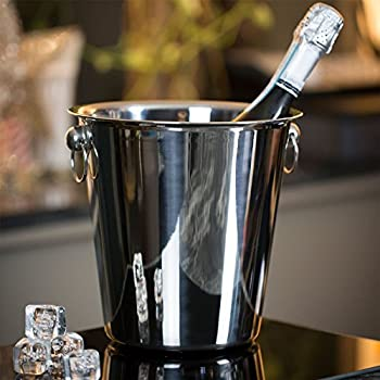 Champagne Wine Ice Chiller Bucket - Stainless Steel - 4 Litre 1