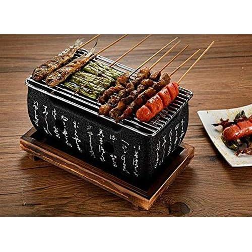 51T1FZjRR3L. SS500  - Amania Trading Ltd HIGOSHI Japanese Portable Cooking TEBURU LARGE Table Top Charcoal Mini BBQ grill