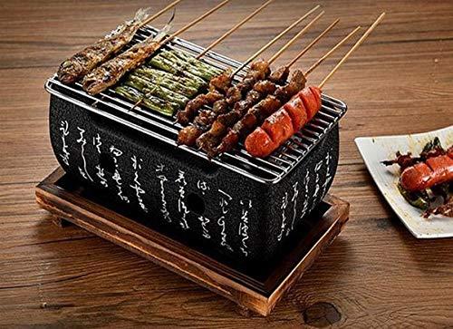 51T1FZjRR3L - Amania Trading Ltd HIGOSHI Japanese Portable Cooking TEBURU LARGE Table Top Charcoal Mini BBQ grill