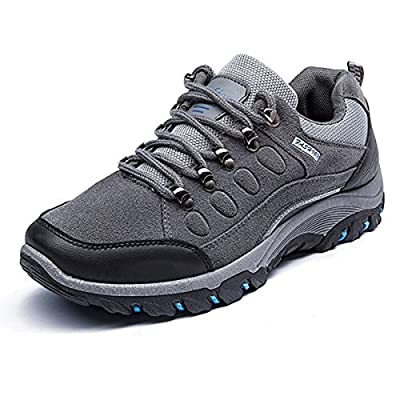 Men's Training Shoes, Gracosy Men's Suede Fashion Sneaker Sports Running Shoes Outdoor Athletic Shoes Casual Shoes Water Resistant Shock Absorption for Men