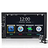 Qiilu 7' Reproductor MP5 de coche Pantalla Táctil HD Bluetooth GPS...