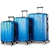 Kofferset Hartschalen 3 teilig Reisekoffer 3 tlg. Zwillingsrollen Trolleys mit Zahlenschloss
