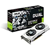 Asus GeForce GTX 1060 Dual-GTX1060-O6G Gaming  (PCIe 3.0, 6GB GDDR5 Speicher, HDMI, DVI, Displayport)