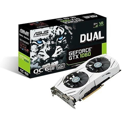 Asus DUAL-GTX1060-O6G - Tarjeta gráfica (Dual, NVIDIA GeForce GTX 1060, 6 GB, GDDR5, HDMI, DVI, DP)