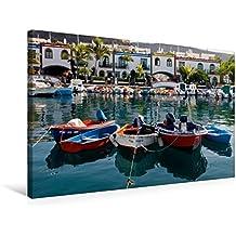 Premium Textil-Leinwand 75 cm x 50 cm quer, Ein Motiv aus dem Kalender Gran Canaria - Puerto Mogan/Maspalomas | Wandbild, Bild auf Keilrahmen. Leinwand, Leinwanddruck (CALVENDO Orte)