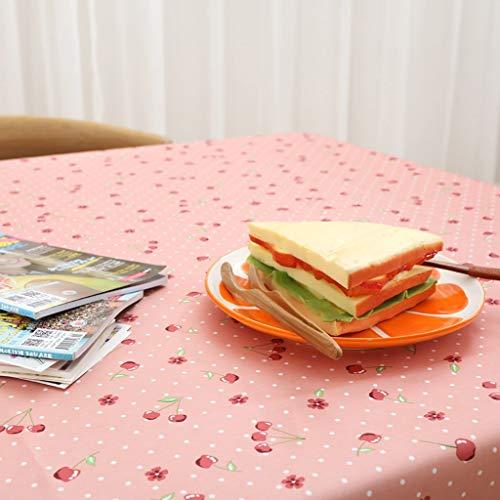 NNPE (TLMT) Tischtuch Rechteckig Bedruckt Pastoral Wasserdicht Tee t Waschen Einweg Verdicken Sie das Tischtuch Tisch Pad Tuch Anti-ho (Size : 90 * 90cm) -