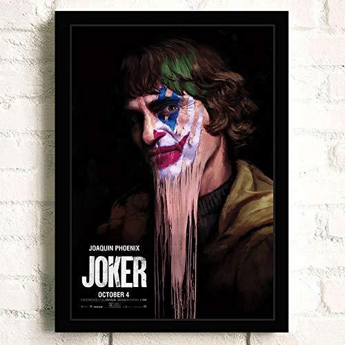 yhyxll Joker Joaquin Phoenix Heath Ledger Film Comics Wandkunst Malerei Druck Auf Leinwand Wohnzimmer Poster Bilder Wohnkultur G 60x85 cm