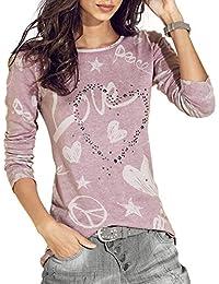 Damark(TM) Ropa Camisetas de Manga Larga para Mujer,Camisas Mujer Elegantes Casual Tallas Grandes Printed Tops Blusa de Manga Larga para Mujer Fiesta en la playa-E12