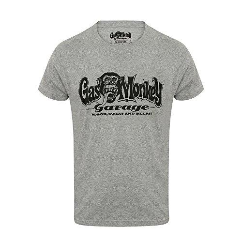 Gas Monkey Garage T-Shirt Hands, Color:Grey Melange;Größe:M