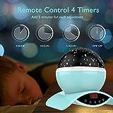 Amouhom Sternenhimmel Projektor Lampe mit Fernbedienung, LED Nachtlicht mit Wiederaufladbare Batterie 360 Drehen und Timing Schlaflicht für Kinders Schlafzimmer Romantische Geschenke für Frauen(Grün) - 4